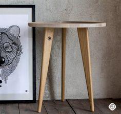 Oak Table TRIPOD Sofa Table Wood Working by ProjektCacko on Etsy