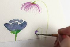 How to paint watercolor flowers. DIY cards + invites... watercolor is so lovely!