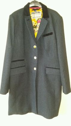 Joules Navy Tweed Duchess Coat jacket. 18. Stunning! BNWOT
