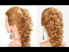 Прическа на выпускной, свадьбу на длинные волосы. Wedding prom hairstyle