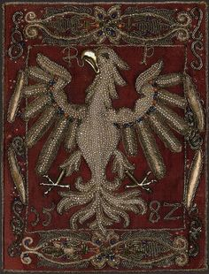 Medieval Embroidery, Gold Embroidery, Poland Country, Poland History, Imperial Eagle, Super Pictures, Crocodile Stitch, Gold Work, Historical Images