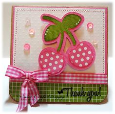 Cherry Thank You Notes... - Susie Craft Happy