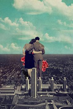 Together ( ABOUT THE ART Limited edition, large-size art prints on paper and/or canvas will soon be available through our own store. together, vintage, collage. Collages, Surreal Collage, Surreal Art, Collage Art, Art Pop, Psychedelic Art, Digital Collage, Digital Prints, Framed Art Prints