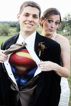 Superman Super Hero Wedding Shot - My wedding ideas