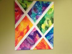 16x20 melted crayon art by janis