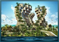 Coral reef, matrix plug-in for 1000 passive houses Port-au-Prince 2011, Haiti by Vincent Callebaut
