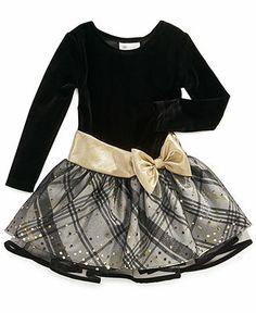 Bonnie Jean Girls Dress, Little Girls Long-Sleeved Holiday Dress - Kids Dresses & Dresswear - Macy's