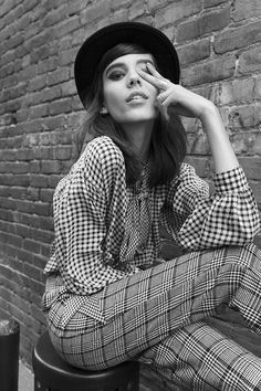 Vintage Saint Laurent Check Yourself Blouse (http://www.nastygal.com/mod/saint-laurent-check-yourself-blouse?utm_source=pinterest&utm_medium=smm&utm_term=email_imagery&utm_content=wear_it_out&utm_campaign=pinterest_nastygal) & Motel Ethan Trouser (http://www.nastygal.com/mod/motel-ethan-trouser?utm_source=pinterest&utm_medium=smm&utm_term=email_imagery&utm_content=wear_it_out&utm_campaign=pinterest_nastygal) #plaid #mod #nastygalvintage