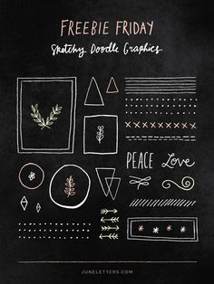 Freebie Friday: Free Sketchy Doodle Graphics! — June Letters Design Studio
