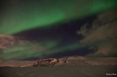 The Northern Lights outside Reykjavik on February 28th, 2017