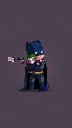 Batman Wallpaper, Pop Art Wallpaper, Harley And Joker Love, Cute Batman, Cartoon Caracters, Chibi Marvel, Chibi Characters, Iron Man Art, Amazing Drawings
