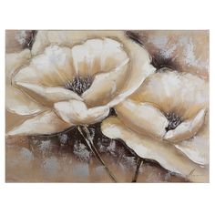 Adorn your home walls with the Yosemite Home Decor Revealed Art Full Bloom I Original Painting on Canvas. This wall art is a beautiful depiction of botanical art that show flowers blooming in a brown and white toned background.<br/><br/>The Revealed Art Full Bloom I Original Painting on Canvas is the original painting on canvas, making it unique and a stylish work of art. Acrylic paints have been used to create embossed impressions on the canvas for a beautiful texture t...