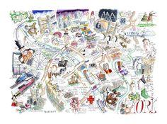 City Of York Map by Tim Bulmer