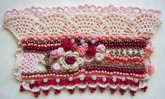 Crochet cuff Crochet bracelet Cuff bracelet by KSZCrochetTreasures