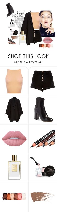 """""""Black&Nude"""" by yixingunicorn ❤ liked on Polyvore featuring Whiteley, River Island, Helmut Lang, rag & bone, Lime Crime, philosophy and NYX"""