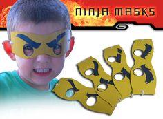 Ninja-Masken Digital-Datei von SFCInvites auf Etsy