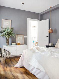 grey bedroom walls