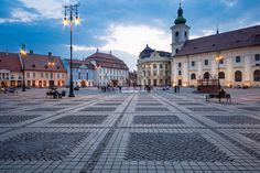 Romania is full of unexpected charm and classic European flavor, at prices below what you might find in some of those other, more visited locations. Sibiu Romania, Louvre, Street View, Heart, Building, Buildings, Construction, Louvre Doors, Architectural Engineering