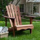 In classic Adirondack style, this Ergonomic Outdoor Patio Adirondack Chair in Red Shorea Wood offers the utmost in comfort and durability. It's crafted of durable red shorea (red lauan), a wood similar in strength, texture, and appearance to mahogany. Rustic Chair, Rustic Furniture, Garden Furniture, Outdoor Furniture, Furniture Sale, Painted Furniture, Furniture Ideas, Quality Furniture, Modern Furniture