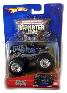 Amazon.com: KING BLING Monster Truck / 2005 Hot Wheels / Monster Jam / #35 / 1:64 scale collectible die-cast truck: Toys & Games