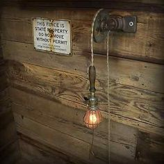 I like the wall mount style pulley lights