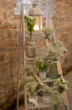 small wooden stairs for rustic country weddings