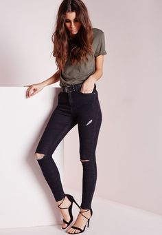 Show your flare for fashion in our fierce All Nighter skinny jeans! These ripped ankle detailed jeans are totally on trend this season and are a lust have pair for every MG girls collection. Team this rad pair of jeans with a floaty shirt a...