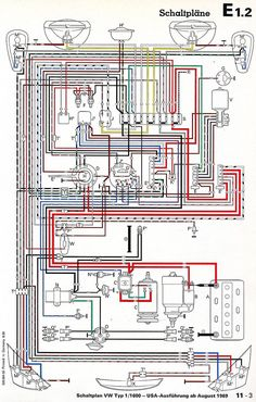 vw firing order and orientation vw bugs pinterest vw cb performance vw 69 vw bug wiring harness diagrams schematics at 1967 beetle diagram