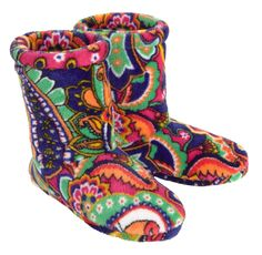 Vera Bradley Fleece Slipper Boot in Venetian Paisley-Vera Bradley Lizzy in Limes Up-Vera Bradley,Buy Two Sale Items, Get a Third One Free