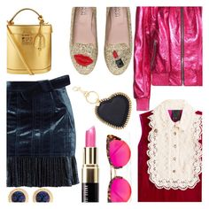 """Pink & Navy & Gold & Red"" by stacey-lynne on Polyvore featuring 3.1 Phillip Lim, Chiara Ferragni, Yves Saint Laurent, Anna Sui, Mark Cross, Bobbi Brown Cosmetics, Krewe, STELLA McCARTNEY and Yochi"