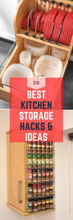 Easy & Clever Kitchen Storage & Organization Hacks Ideas Clever Kitchen Storage, Kitchen Organization, Storage Organization, Storage Ideas, Diy Kitchen Decor, Kitchen Hacks, Kitchen Ideas, Small Kitchens, Cool Kitchens