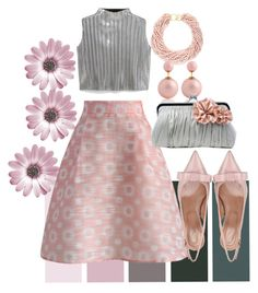 """Untitled #578"" by saritanwa ❤ liked on Polyvore featuring Chicwish, RED Valentino, MANGO and Kenneth Jay Lane"