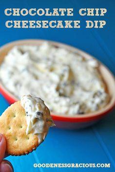 Chocolate Chip Cream Cheese Dessert Dip