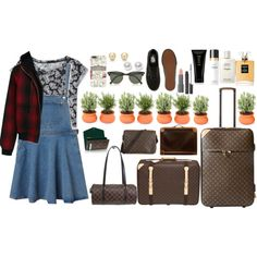 Untitled #7 by licenotabosa on Polyvore featuring polyvore fashion style Monki Aéropostale R13 Vans Louis Vuitton Nouv-Elle Ray-Ban Harrods Laura Mercier Easy Spirit Chanel Oribe
