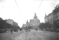 Calle Alcalá. Madrid. Spain. 1910's; but is was NOT 1910. '87, '94, '03-yes