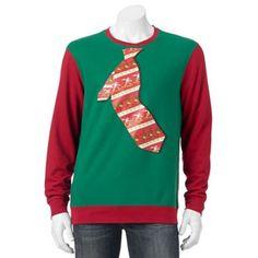 Santa Tie Christmas Sweater - Men
