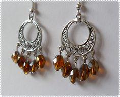 Silvia Jewellery of Style: Orecchini candelieri perle marroni