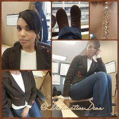 I LOVE THIS COAT!! I sho do wear it once a month and I cares not! #WhatsYourStyle #WorkFlow #BlackGirlMagic #ShortHair