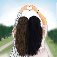 Funny quotes about friendship and drinking people ideas - Bff Pictures Girly M, Best Friend Drawings, Girly Drawings, Bff Pics, Best Friend Pictures, Bff Pictures, Friends Sketch, Sarra Art, Cute Girl Drawing
