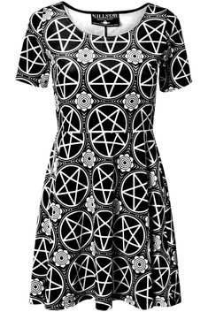 Pentagram Velvet Skater Dress [B]