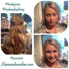 Prom 2016! Hair by Jennie, Makeup by Chrissy at Karma Salon & Spa.