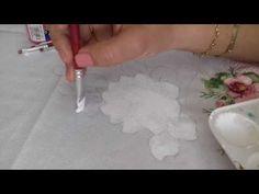 Pintura em tecido. Aprenda pintar rosas, folhas e fazer o acabamento. - YouTube