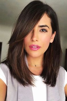 18 Inspiring Long Bob Hairstyle Ideas ★ Side Bang Long Bob Hairstyle Picture 1 ★ See more: http://glaminati.com/long-bob/ #longbob #longbobhairstyle