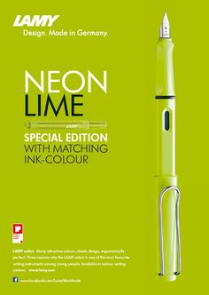 Lamy Safari Neon Lime - Limited Edition 2015 wrap1