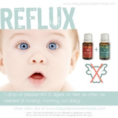 Baby Steps to Essential Oils - Reflux Recommendation  If you are interested in purchasing the oils or products or learning more about Young Living can email me at siegel_m@bellsouth.net. I would be more than happy to help!  Main website www.youngliving.com Or check out the products and order at   https://www.youngliving.com/signup/?site=US=1483454=1483454