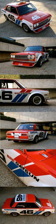 1971 BRE Datsun 510 / '71 & '72 SCCA Trans-Am champion / John Morton / Japan USA / red white blue