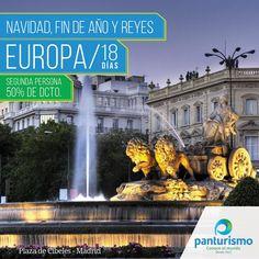 Empieza el 2016 viajando a Europa por $1.700 USD y la segunda persona con el 50% de descuento. Promoción válida reservando y pagando antes del 30 de noviembre de 2015. Trámite de la Visa Schengen Gratis. Visa sujeta a aprobación gubernamental. Comunícate con nosotros en Cali al 668 2255 y en Bogotá al 606 9779