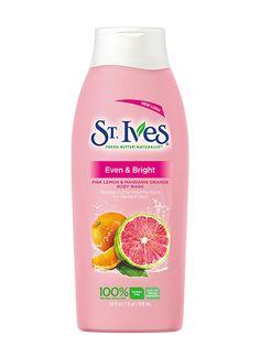 The Best Microbead-Free Body Scrubs Under $20: St. Ives Even & Bright Pink Lemon and Mandarin Orange Body Wash | allure.com