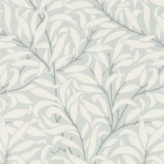 Pure Willow Bough Wallpaper An update on the original Willow Bough design, this stylish wallpaper is shown in off-white on an powder blue ground.