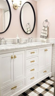 We are starting our master bathroom renovation and I'm sharing my favorite bathroom designs that have inspired me for our Modern Vintage Bathroom! Girl Bathrooms, Small Bathroom, Master Bathroom, Bathroom Ideas, Bathroom Closet, Bathroom Designs, Boho Bathroom, Bathroom Inspo, Dream Bathrooms